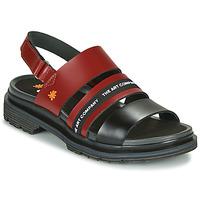 Topánky Ženy Sandále Art BIRMINGHAM Bordová / Čierna