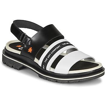 Topánky Ženy Sandále Art BIRMINGHAM Čierna / Biela