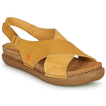 Topánky Ženy Sandále Art RHODES Žltá horčicová