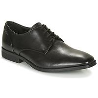 Topánky Muži Derbie Clarks GILMAN PLAIN Čierna