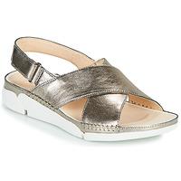 Topánky Ženy Sandále Clarks Tri Alexia Strieborná