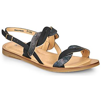 Topánky Ženy Sandále El Naturalista TULIP Čierna / Strieborná