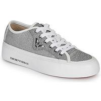 Topánky Ženy Nízke tenisky Emporio Armani X3X109-XL487 Strieborná