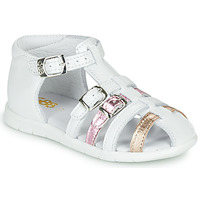 Topánky Dievčatá Sandále GBB PERLE Biela