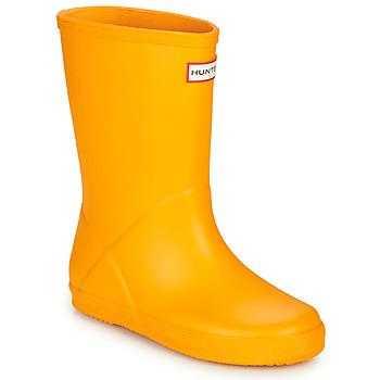 Topánky Deti Čižmy do dažďa Hunter KIDS FIRST CLASSIC Žltá