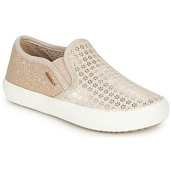 Topánky Dievčatá Slip-on Geox J KILWI GIRL Béžová