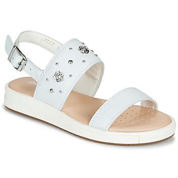 Topánky Dievčatá Sandále Geox J SANDAL REBECCA GIR Biela