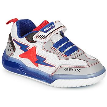 Topánky Chlapci Nízke tenisky Geox J INEK BOY Biela / Modrá / Červená