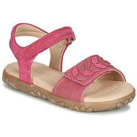 Topánky Dievčatá Sandále Geox J SANDAL HAITI GIRL Fuksiová