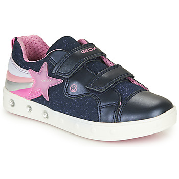 Topánky Dievčatá Nízke tenisky Geox J SKYLIN GIRL Námornícka modrá / Ružová