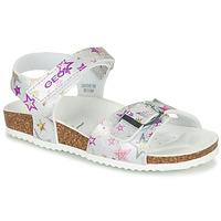 Topánky Dievčatá Sandále Geox ADRIEL GIRL Strieborná