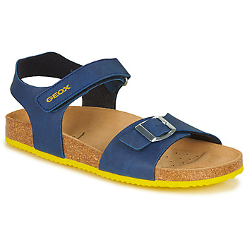 Topánky Chlapci Sandále Geox J GHITA BOY Modrá / Žltá