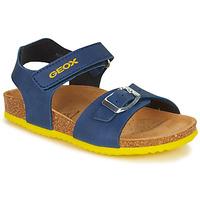 Topánky Chlapci Sandále Geox GHITA BOY Modrá / Žltá