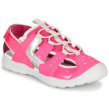 Topánky Dievčatá Športové sandále Geox J VANIETT GIRL Ružová / Strieborná