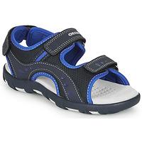 Topánky Chlapci Športové sandále Geox JR SANDAL PIANETA Námornícka modrá