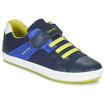Topánky Chlapci Nízke tenisky Geox J GISLI BOY Námornícka modrá / Žltá