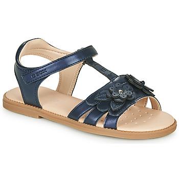 Topánky Dievčatá Sandále Geox J SANDAL KARLY GIRL Námornícka modrá