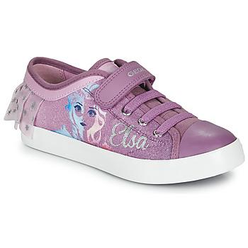 Topánky Dievčatá Nízke tenisky Geox JR CIAK GIRL Fialová
