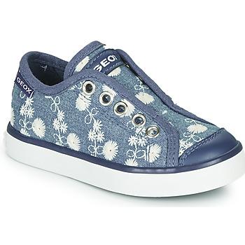 Topánky Dievčatá Nízke tenisky Geox JR CIAK GIRL Modrá / Biela