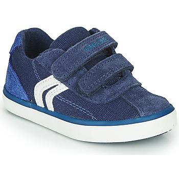Topánky Chlapci Nízke tenisky Geox B KILWI BOY Modrá / Biela