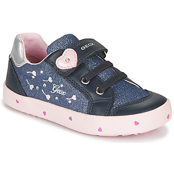 Topánky Dievčatá Nízke tenisky Geox B KILWI GIRL Modrá / Ružová