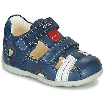 Topánky Chlapci Sandále Geox B KAYTAN Modrá / Biela / Červená