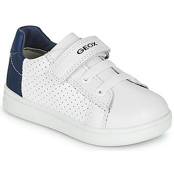 Topánky Chlapci Nízke tenisky Geox B DJROCK BOY Biela / Modrá