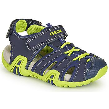 Topánky Chlapci Športové sandále Geox B SANDAL KRAZE Námornícka modrá / Zelená