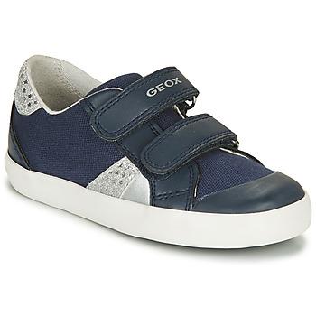 Topánky Dievčatá Nízke tenisky Geox B GISLI GIRL Námornícka modrá / Strieborná