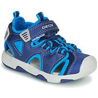 Topánky Chlapci Športové sandále Geox B SANDAL MULTY BOY Modrá