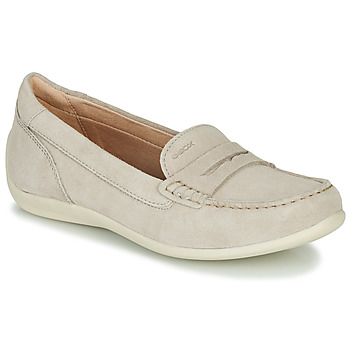 Topánky Ženy Mokasíny Geox D YUKI Béžová
