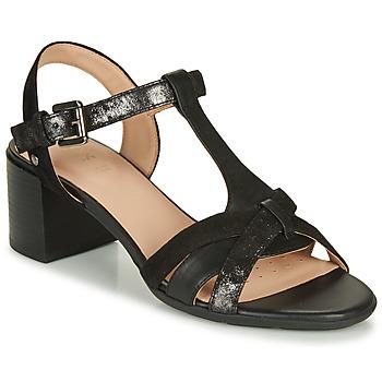 Topánky Ženy Sandále Geox D MARYKARMEN MID SAN Čierna