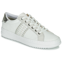 Topánky Ženy Nízke tenisky Geox D PONTOISE Biela / Strieborná