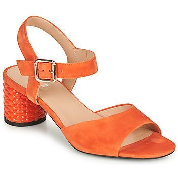 Topánky Ženy Sandále Geox D ORTENSIA MID SANDA Oranžová
