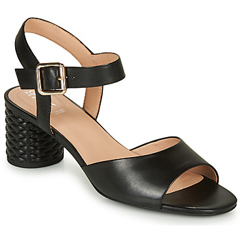 Topánky Ženy Sandále Geox D ORTENSIA MID SANDA Čierna
