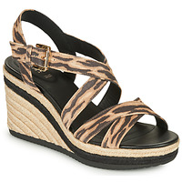 Topánky Ženy Sandále Geox D PONZA Hnedá / Čierna