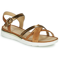 Topánky Ženy Sandále Geox D SANDAL HIVER Zlatá / Hnedá