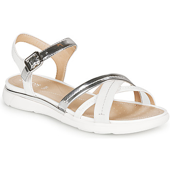 Topánky Ženy Sandále Geox D SANDAL HIVER Strieborná / Biela