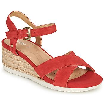 Topánky Ženy Sandále Geox D ISCHIA CORDA Červená