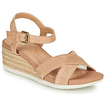 Topánky Ženy Sandále Geox D ISCHIA CORDA Béžová