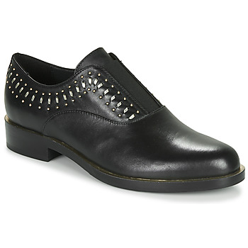 Topánky Ženy Derbie Geox D BROGUE S Čierna / Zlatá