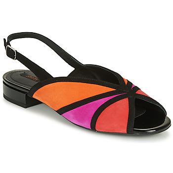 Topánky Ženy Sandále Geox D WISTREY SANDALO Čierna / Červená / Ružová