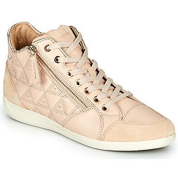 Topánky Ženy Členkové tenisky Geox D MYRIA Béžová