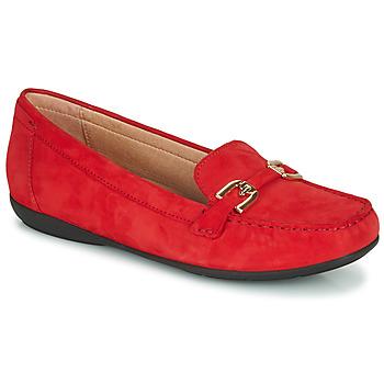 Topánky Ženy Mokasíny Geox D ANNYTAH MOC Červená / Zlatá
