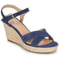 Topánky Ženy Sandále Geox D SOLEIL Modrá