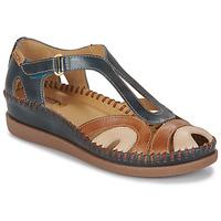 Topánky Ženy Sandále Pikolinos CADAQUES W8K Modrá / Ťavia hnedá