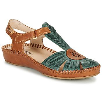 Topánky Ženy Sandále Pikolinos P. VALLARTA 655 Ťavia hnedá / Zelená