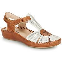 Topánky Ženy Sandále Pikolinos P. VALLARTA 655 Biela / Ťavia hnedá