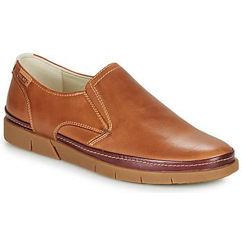 Topánky Muži Mokasíny Pikolinos PALAMOS M0R Ťavia hnedá