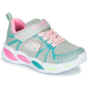 Topánky Dievčatá Univerzálna športová obuv Skechers SHIMMER BEAMS Strieborná / Ružová / Modrá